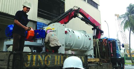 WAM Supplying Equipment for Incinerator